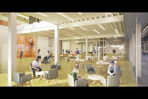 John Puttick Associates' proposals for the interior of Preston Youth Zone